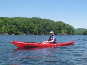 Julie McCoy at Lake Sebago.