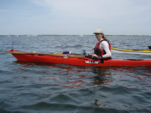 Paddling Rockaway Channel.